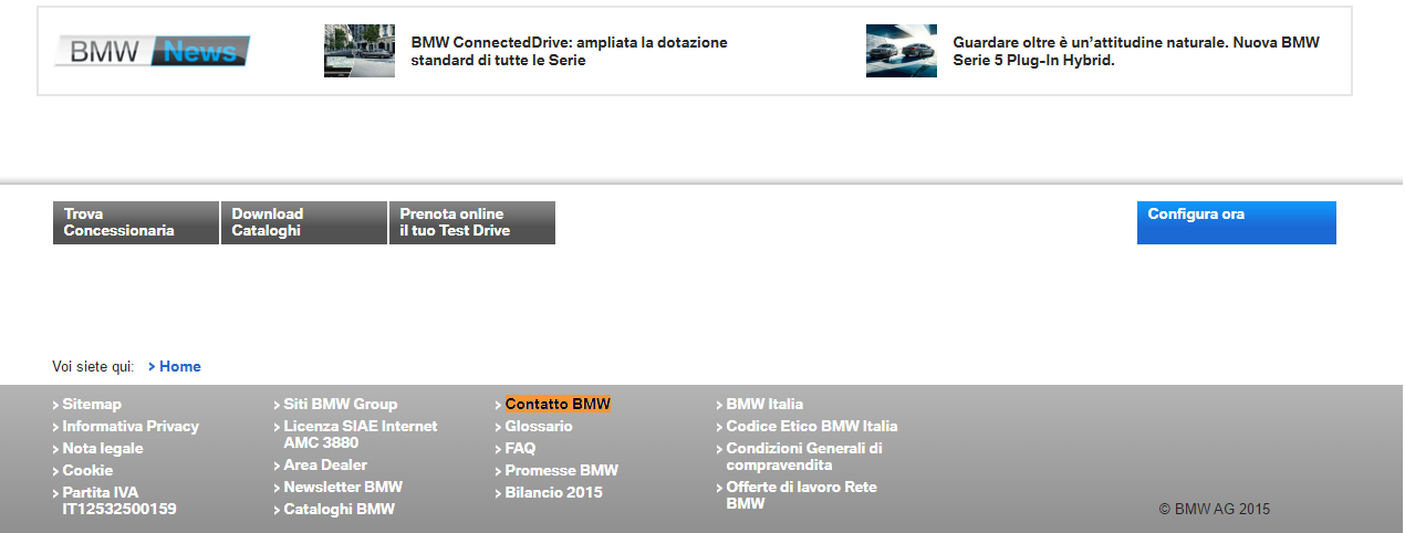 Contattare BMW online